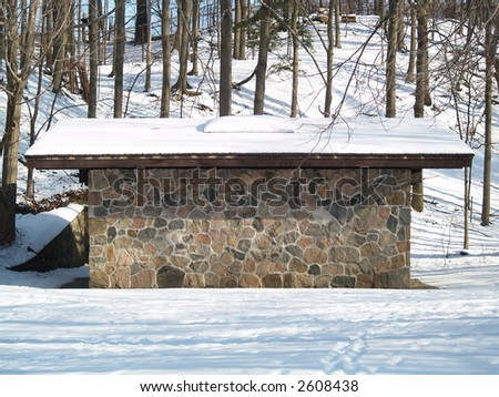 rock cabin - stock photo