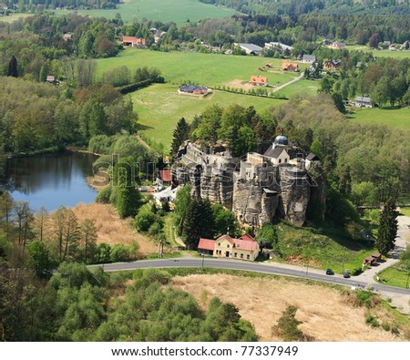 Rock castle in Sloup, Czech Republic, Europe - stock photo