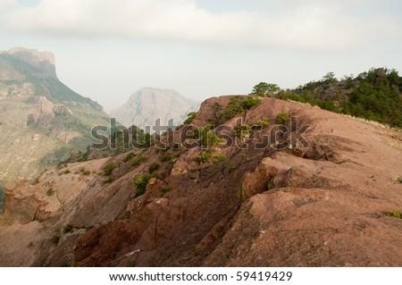 rock cliff - stock photo
