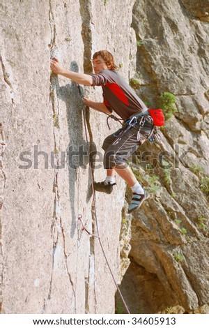 Rock Climber - stock photo