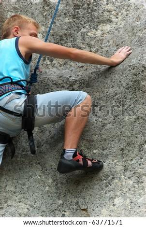 Rock climber. Element of design. - stock photo