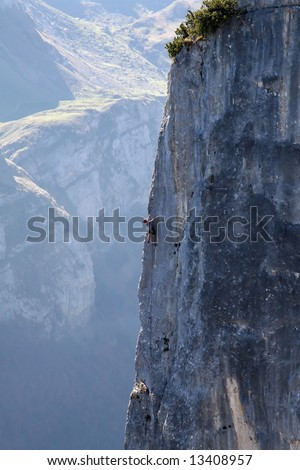 Rock climbing - stock photo