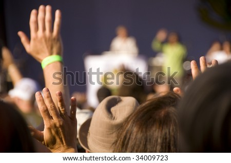Rock concert audience - stock photo