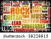 Rock Concert Event Poster Board as Background - stock vector