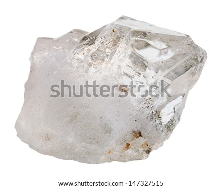 rock crystal mineral stone isolated on white background - stock photo