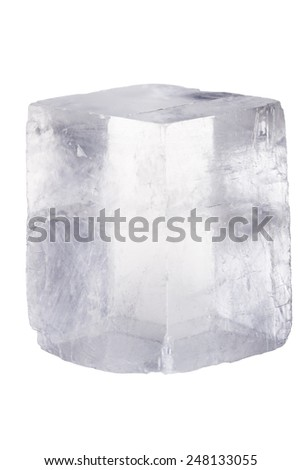 Rock crystal on a white background with clipping path