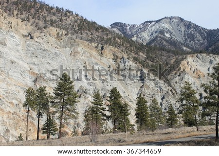 Rock erosion wall - stock photo