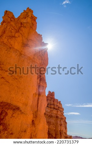 rock formation cliff bryce canyon national park utah - stock photo