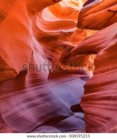 Rock formation in Antelope Canyon in Arizona, USA