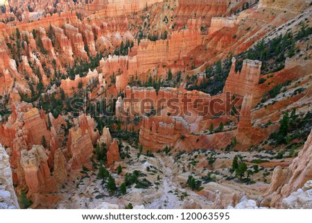 Rock formation in Bryce Canyon National Park, Utah