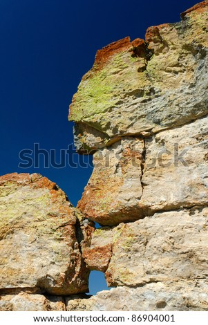 Rock formation in Isalo moutain - stock photo