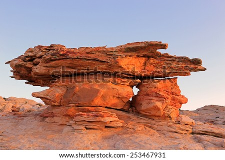 Rock formation in the Utah desert, USA. - stock photo