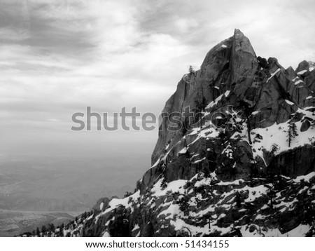 Rock Formation on San Jacinto - stock photo