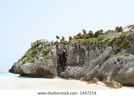 Rock formation, Tulum Beach, Mexico