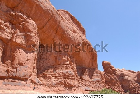 Rock Formations at Arches National Park in Utah, USA - stock photo
