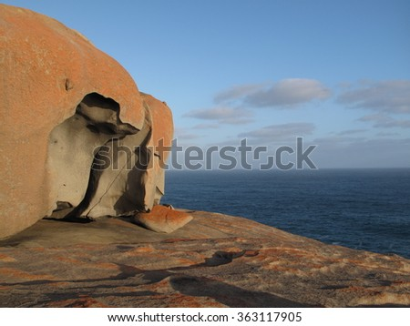 Rock formations, Flinder's Chase National Park, Kangaroo Island, Australia - stock photo