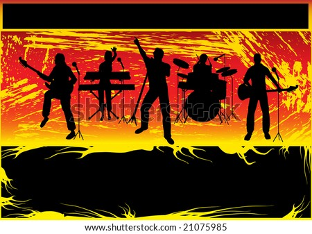 Rock Group Bitmap Background