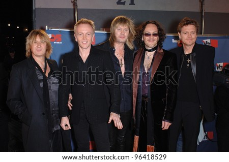 Rock group DEF LEPPARD at the VH1 Big in 05 Awards at Sony Studios, Culver City. December 3, 2005  Culver City, CA.  2005 Paul Smith / Featureflash