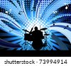 Rock group drummer for design use - stock vector