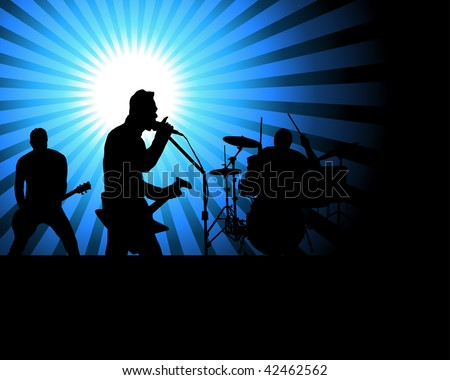 Rock group singers theme