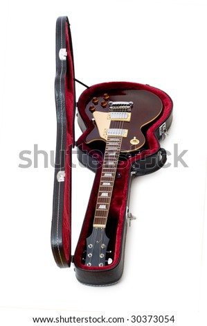 Rock guitar isolated on the white background - stock photo
