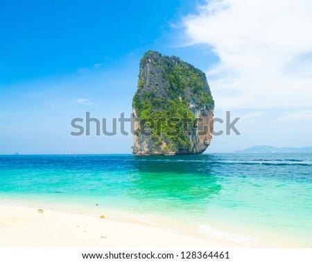 Rock Island Blue Paradise - stock photo