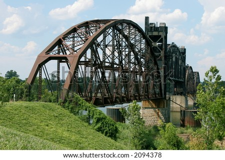 Rock Island Railroad Bridge - stock photo