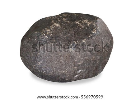 Rock isolated on a white background