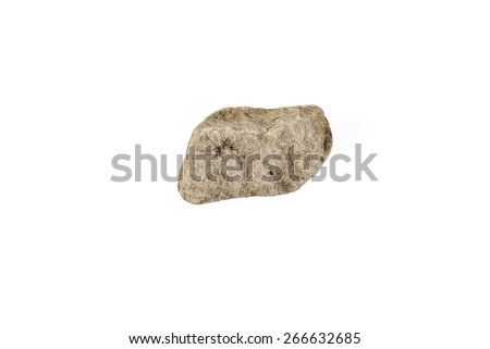 Rock isolated on white background. Accessories for the banner - stock photo