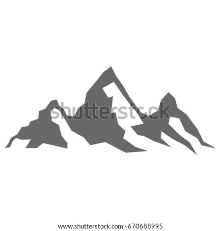 Mountain Silhouette abstract minimal mountain landscape symbol set stock vector