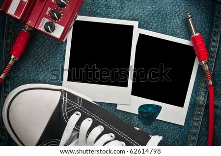 Rock music background - stock photo