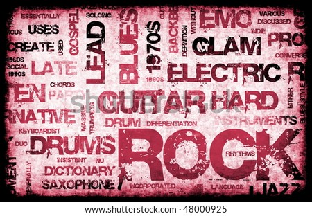 Rock Music Party Invitation as Poster Art - stock photo