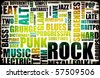Rock Music Poster Art as Grunge Background - stock vector