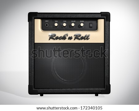 Rock'n Roll amplifier. Front view - stock photo