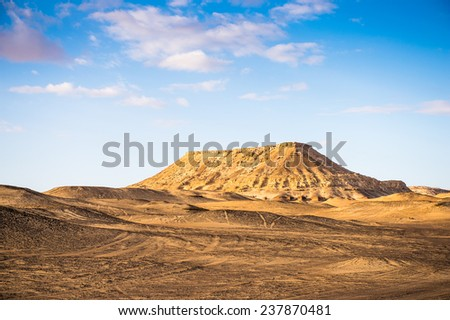 Rock near the Bahariya Oasis in the Sahara Desert in Egypt - stock photo