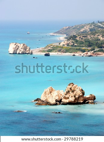Rock of Aphrodite place in Cyprus said to be the birthplace of Aphrodite