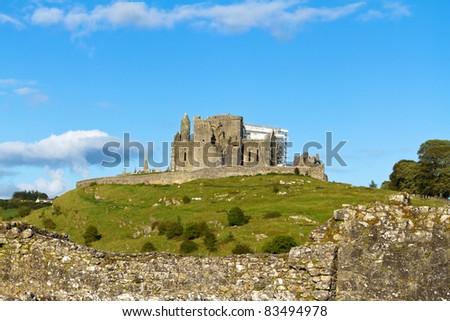 Rock of Cashel - Irish national landmark - stock photo