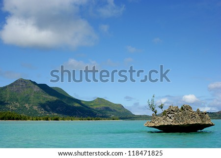 Rock on Mauritius - stock photo