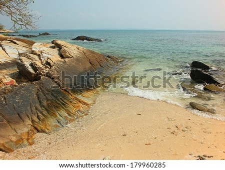 Rock on the beach at the Koh samet island thailand