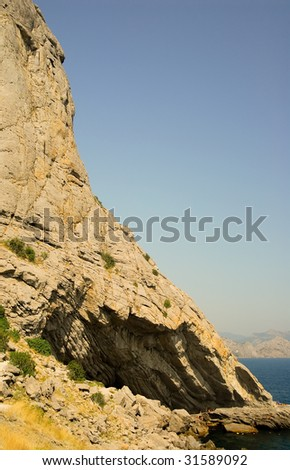 rock on the sea - stock photo
