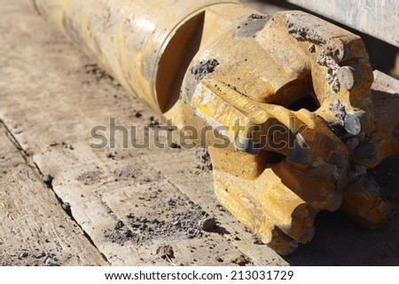 Rock or drill bit. - stock photo
