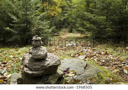 Rock pile - stock photo
