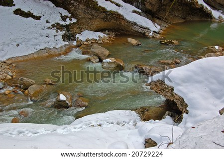 Rock River - stock photo