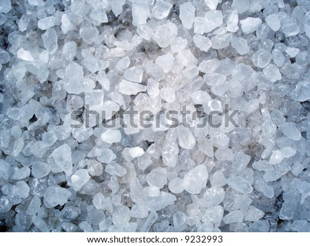 Rock salt typically used in winter - stock photo