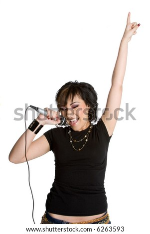 Rock Star Girl - stock photo