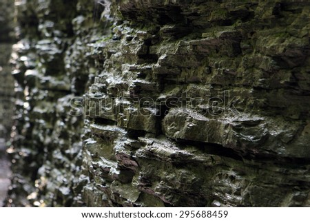 Rock stone wall background - stock photo