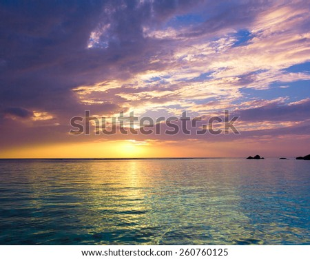 Rock Sunset Evening  - stock photo