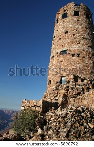 Rock tower in Grand Canyon National Park - stock photo