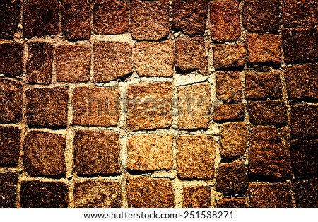 Rock wall, close up.Texture background. Great details. - stock photo