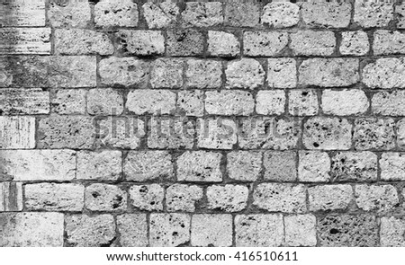 Rock wall pattern - stock photo